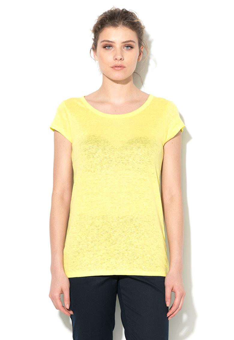 Tricou galben chartreuse de in