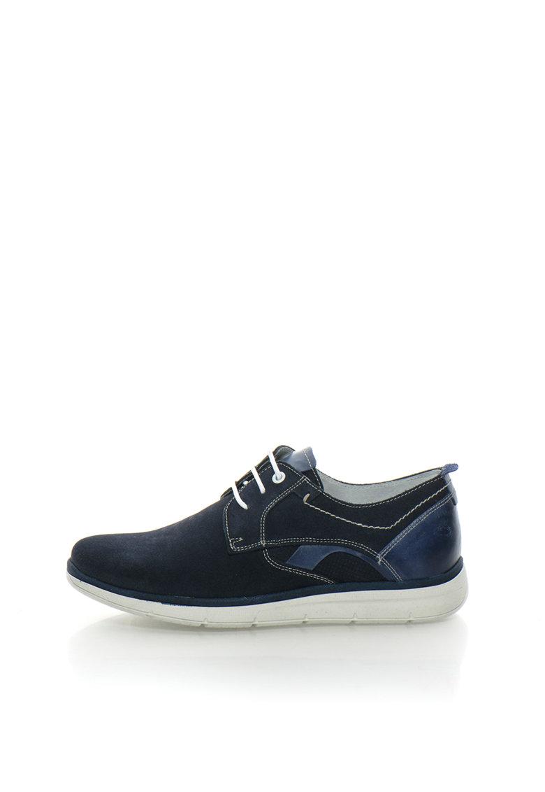 Zee Lane Pantofi casual bleumarin de piele intoarsa si piele Prince