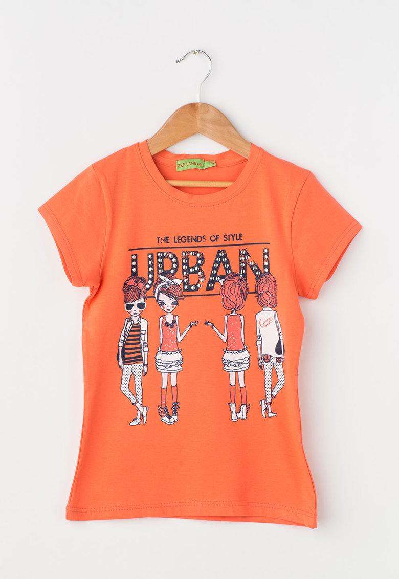 Zee Lane Kids Tricou oranj mandarina cu imprimeu