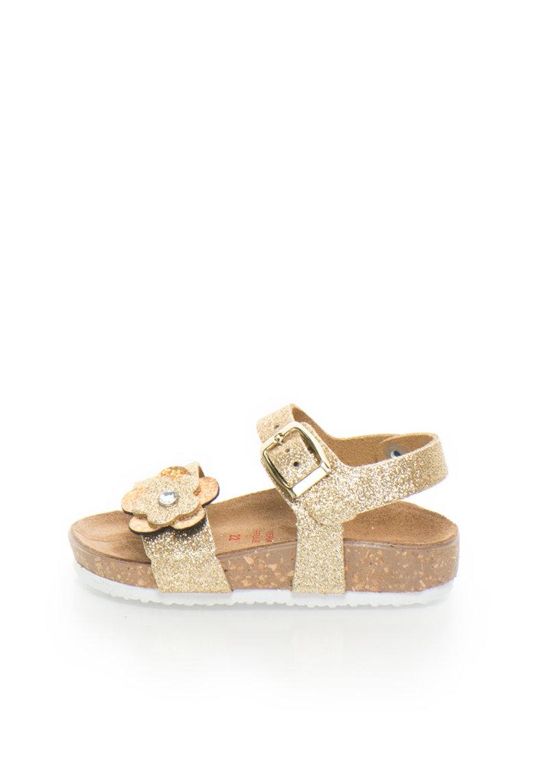 Zee Lane Sandale aurii stralucitoare de piele