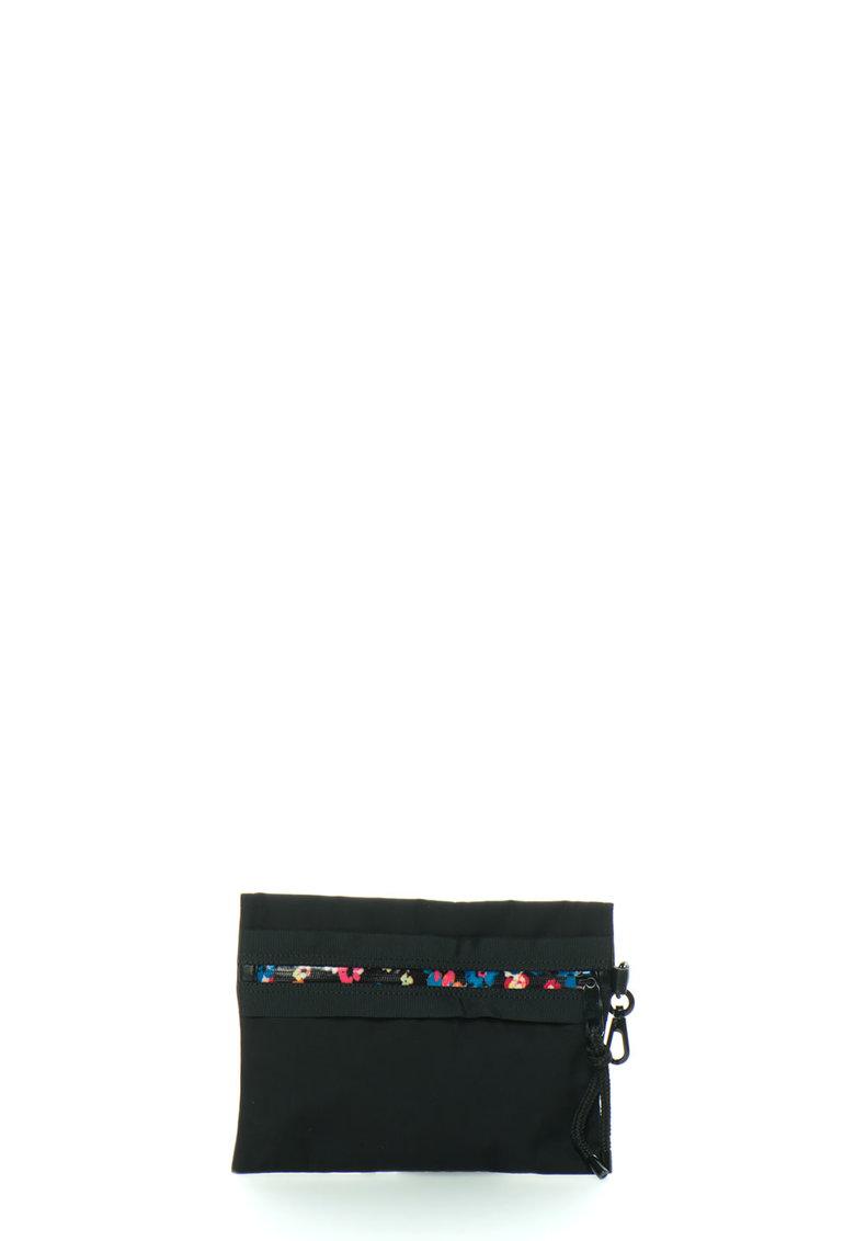 Juicy Couture Portofel negru cu imprimeu roz si fermoar