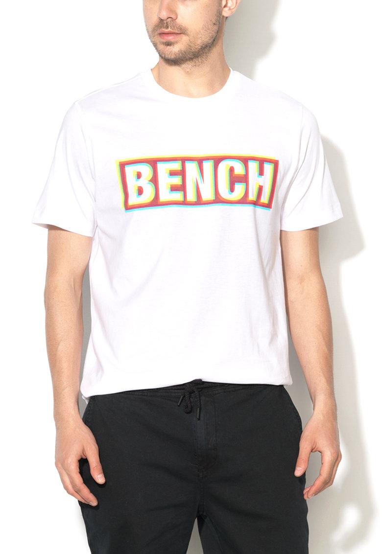 Bench Tricou alb cu imprimeu multicolor