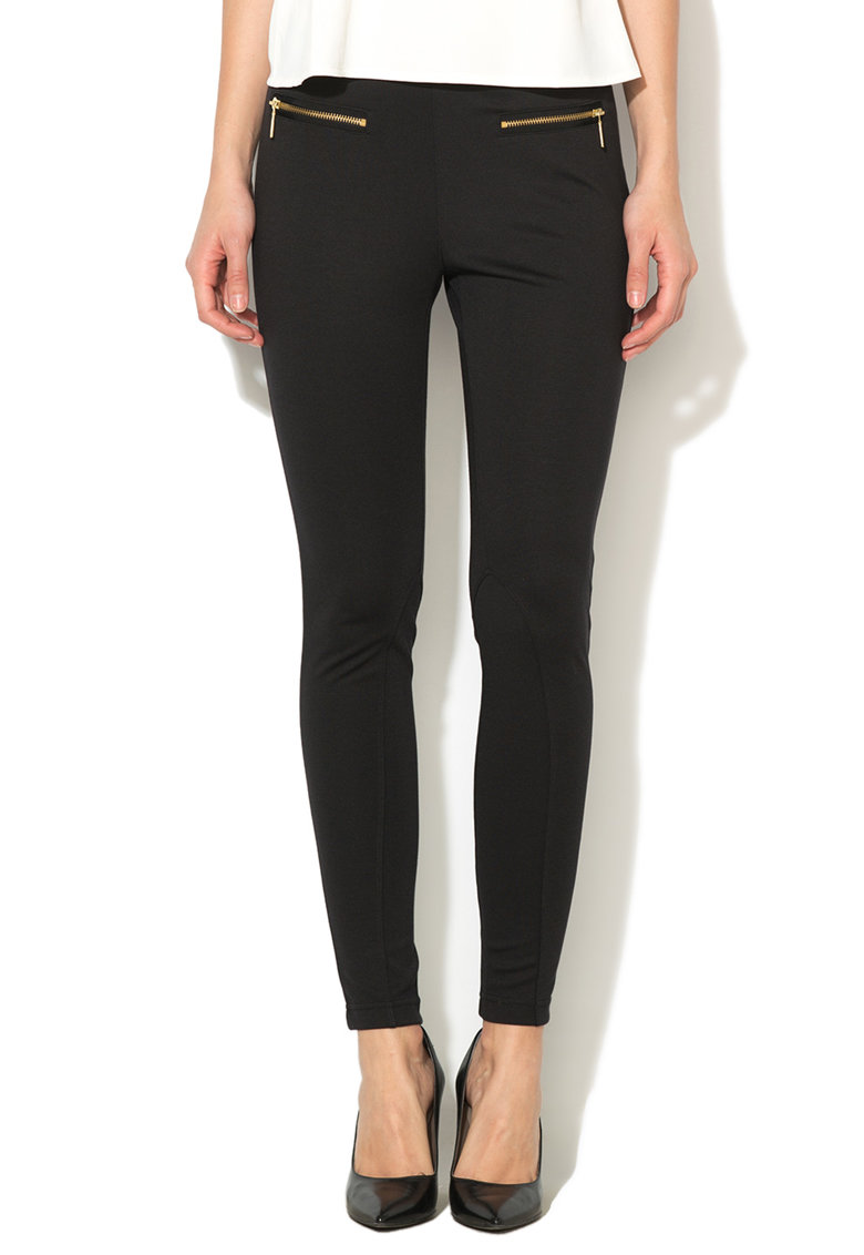 Juicy Couture Pantaloni conici elastici negri