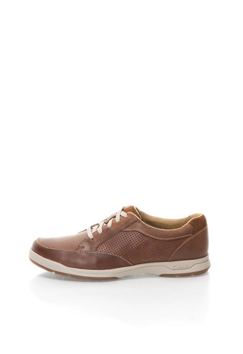 Pantofi casual maro inchis din piele Safford Park