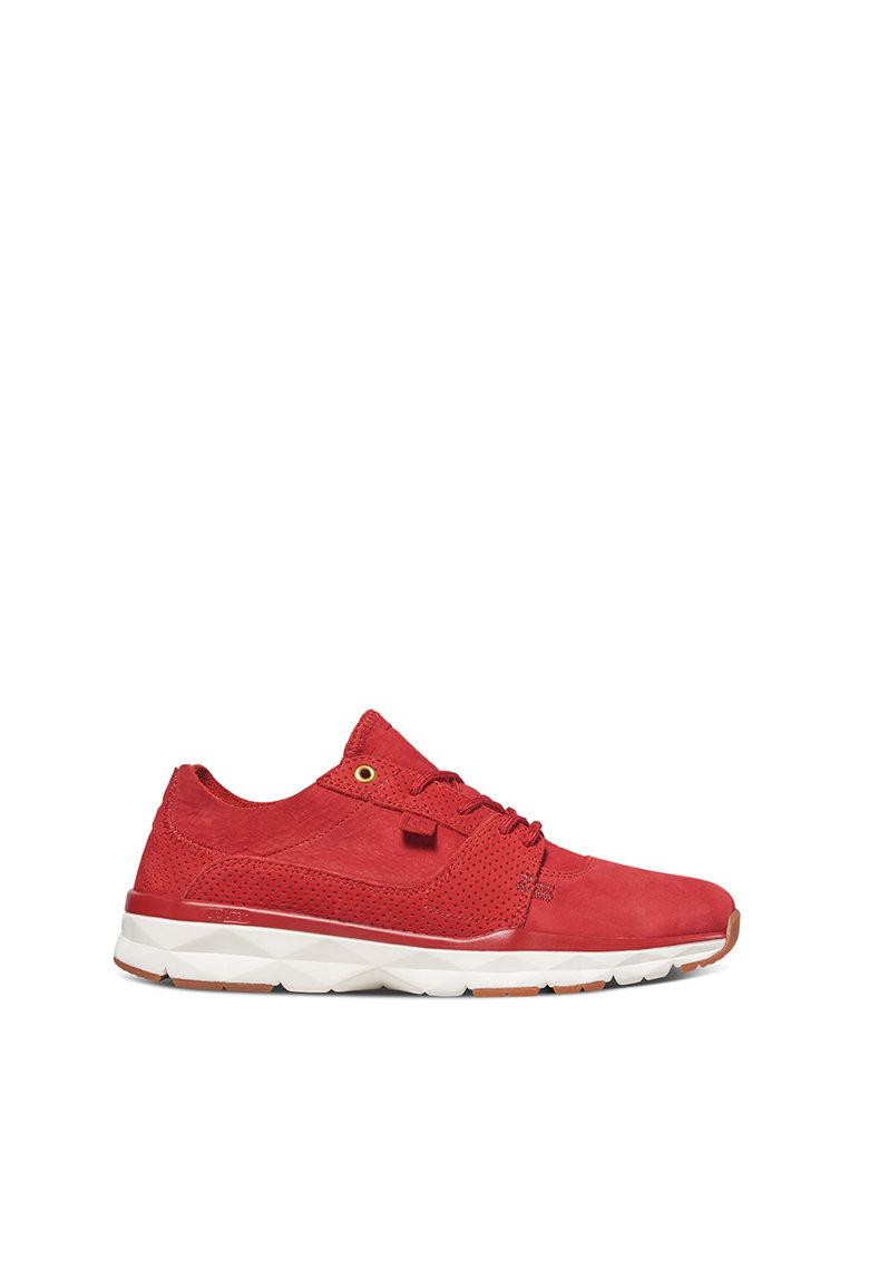 DC Pantofi sport rosii de piele Player Zero