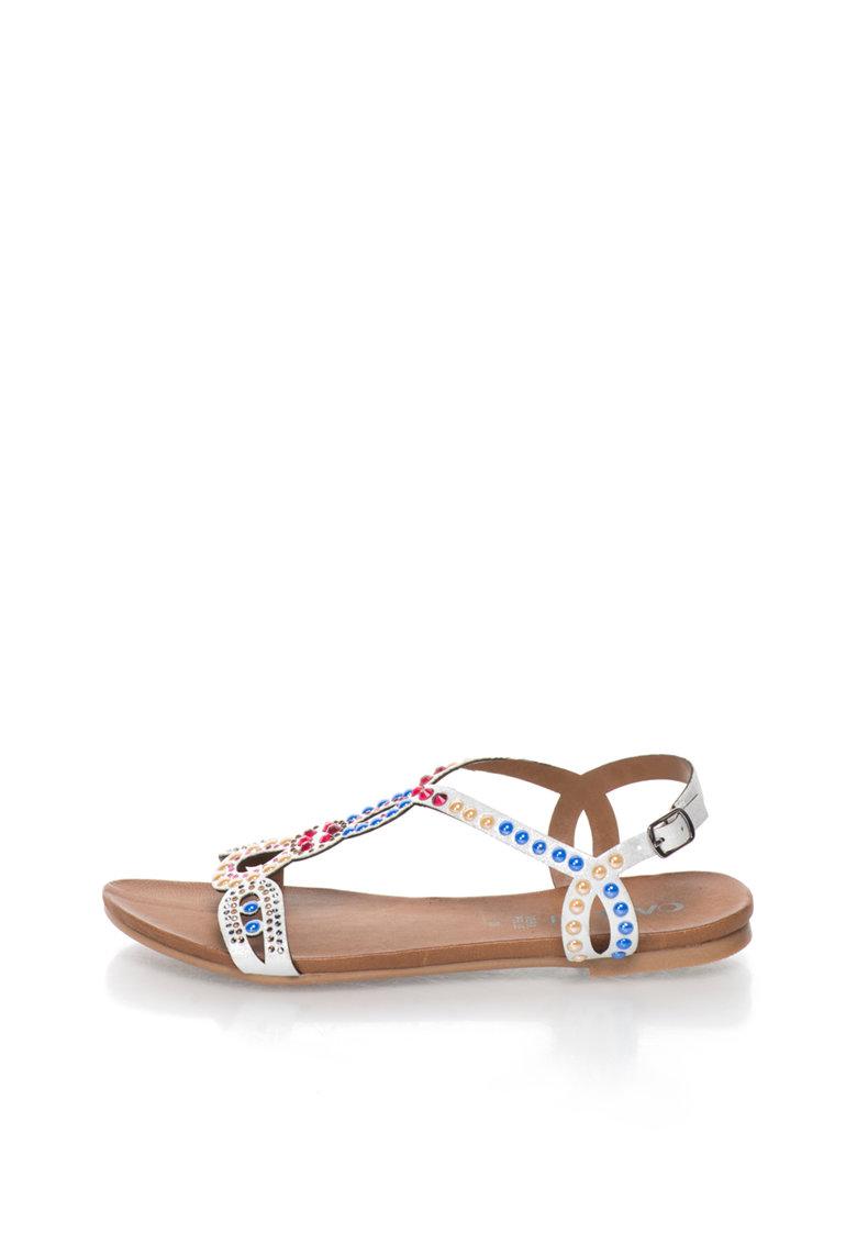 Oakoui Sandale multicolore cu design cu strasuri