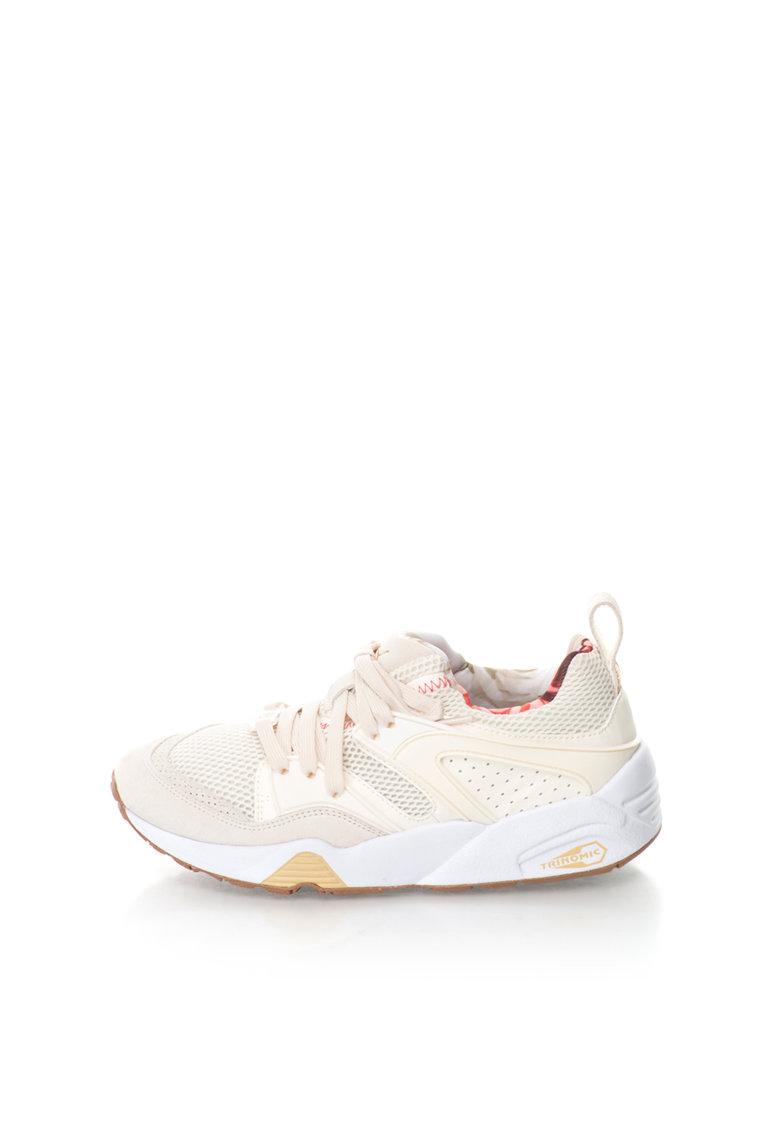 Puma Pantofi sport slip-on alb fildes cu ecru Blaze Of Glory
