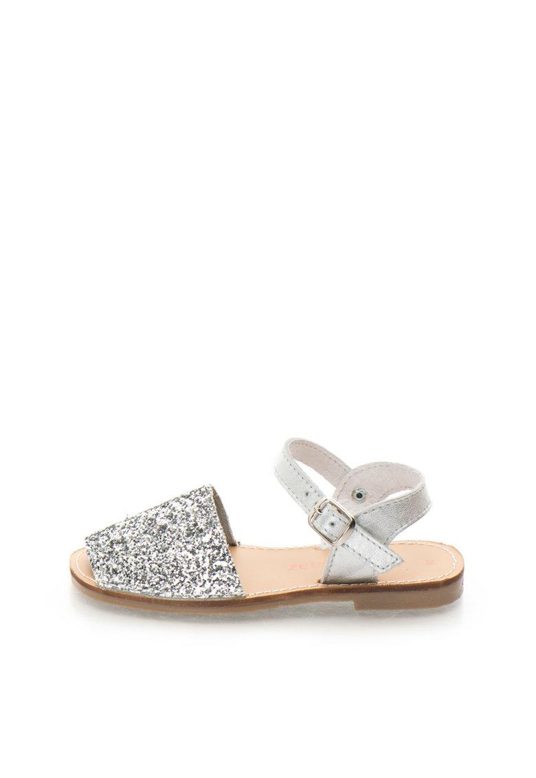Zee Lane Sandale slingback argintii stralucitoare de piele Asia