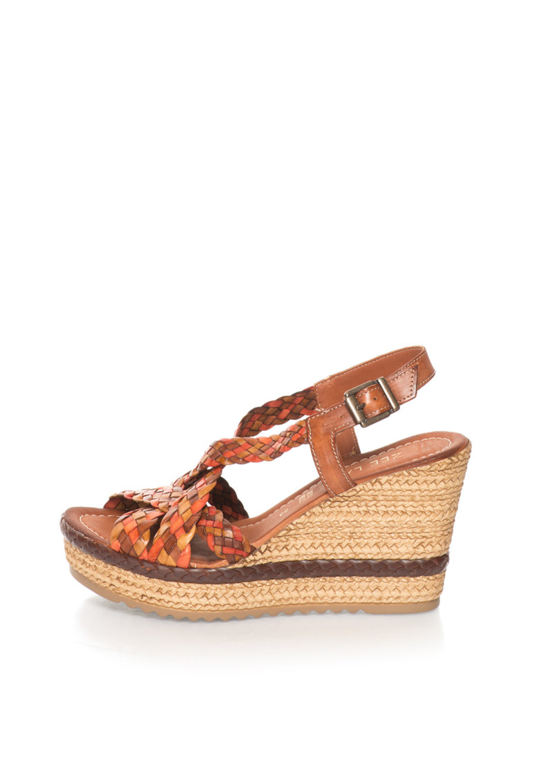 Zee Lane Sandale wedge multicolore de piele
