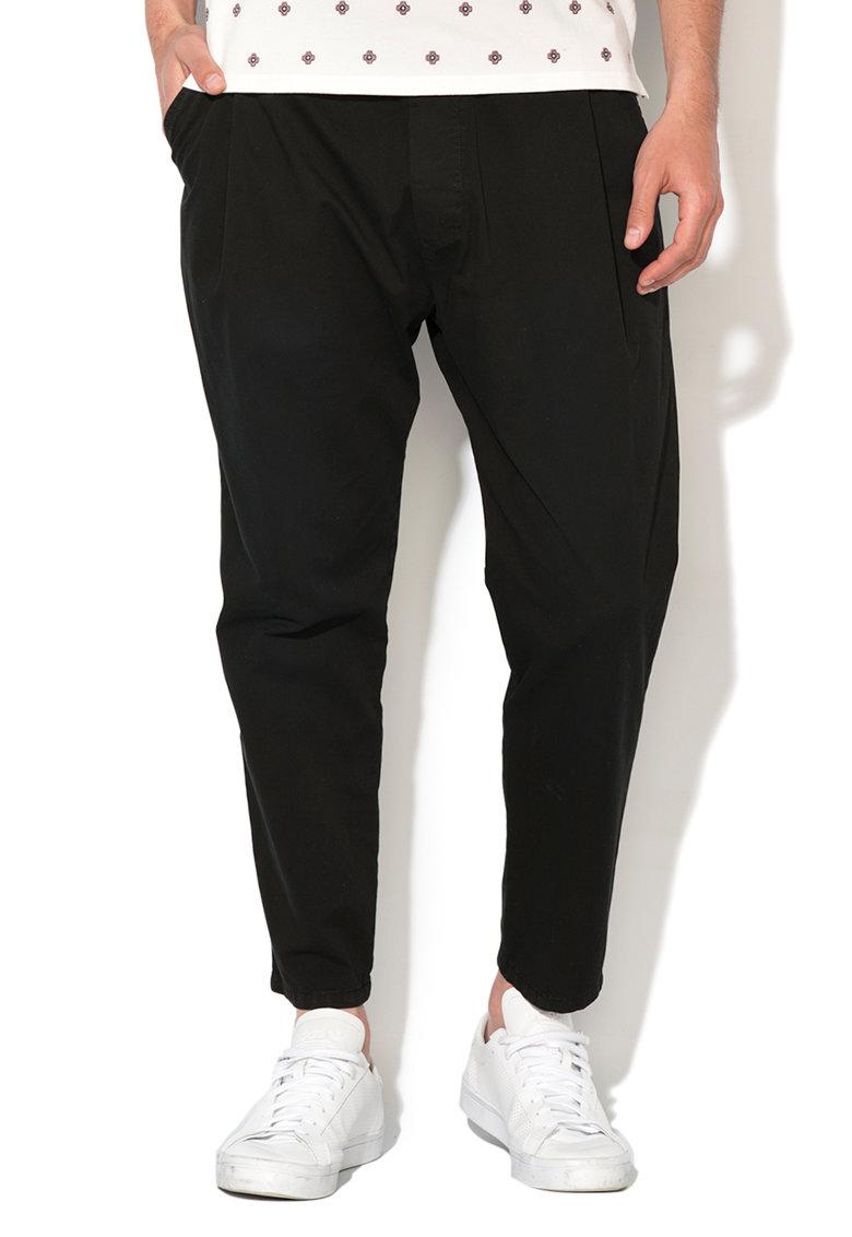 Pantaloni jogger crop negri