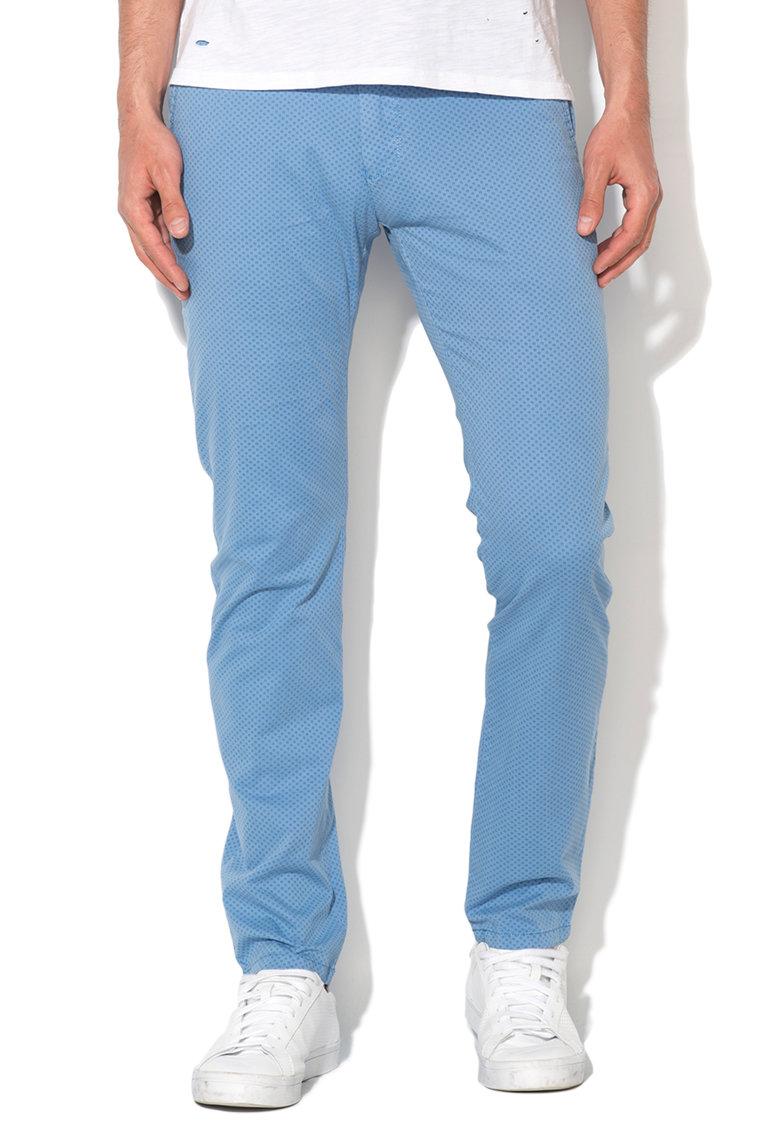 Zee Lane Denim Pantaloni chino albastru pastel cu model floral
