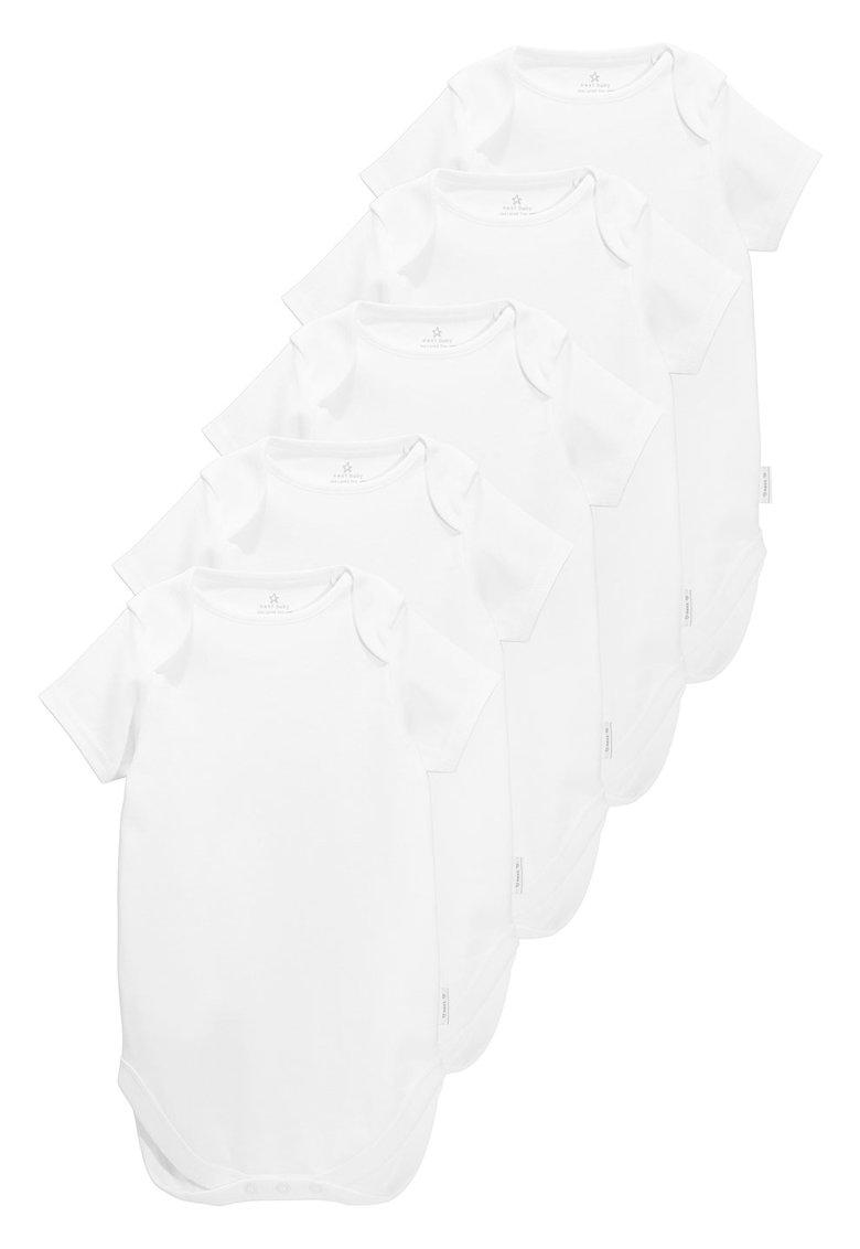 Set de body-uri albe cu maneci scurte – 5 piese NEXT