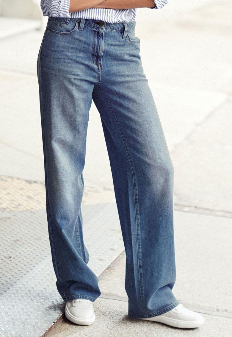 NEXT Jeansi albastri cu croiala ampla