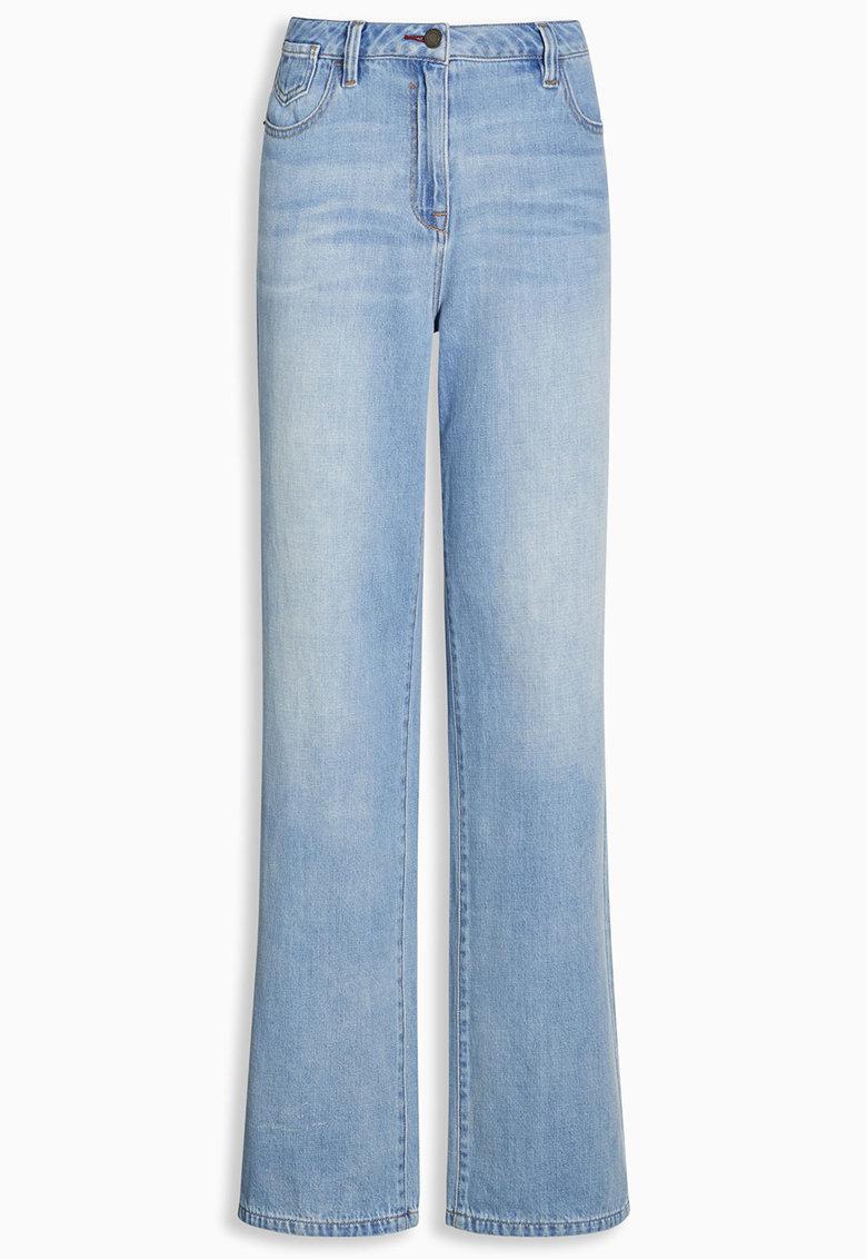 NEXT Jeansi bleu cu croiala ampla