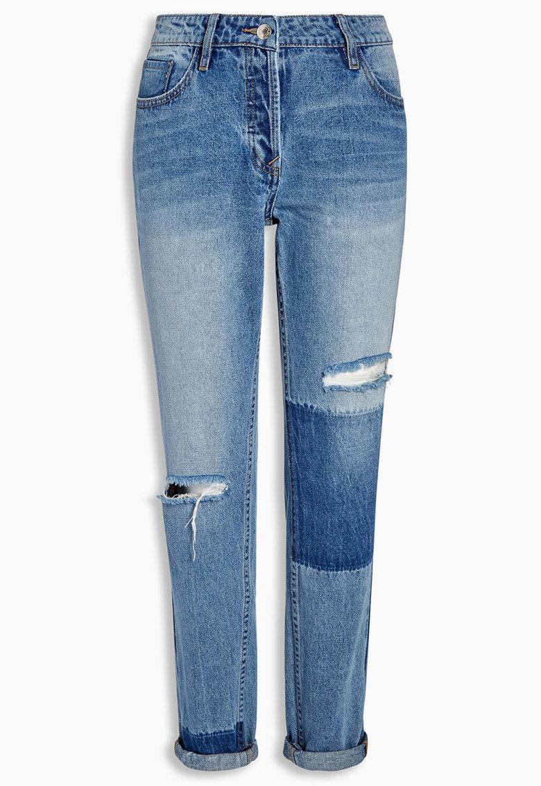 NEXT Jeansi albastri cu aspect deteriorat