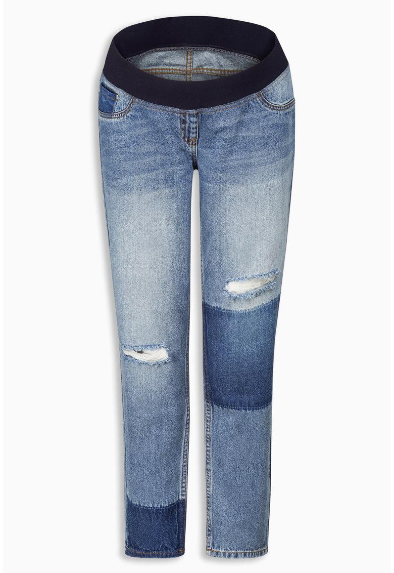 NEXT Jeansi albastru pentru gravide cu segmente contrastante