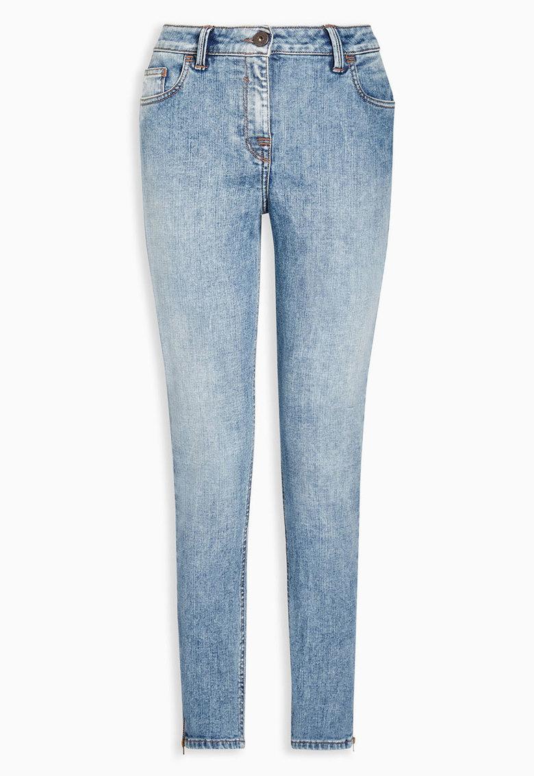 NEXT Jeansi skinny albastru decolorat