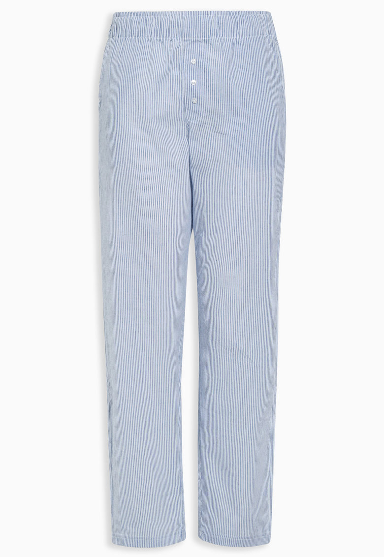 NEXT Pantaloni de pijama albastru cu alb in dungi
