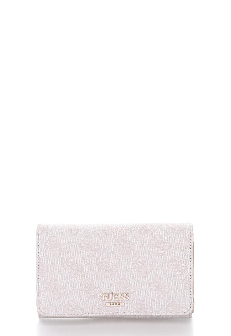 GUESS Portofel roz pal cu monograme Arianna