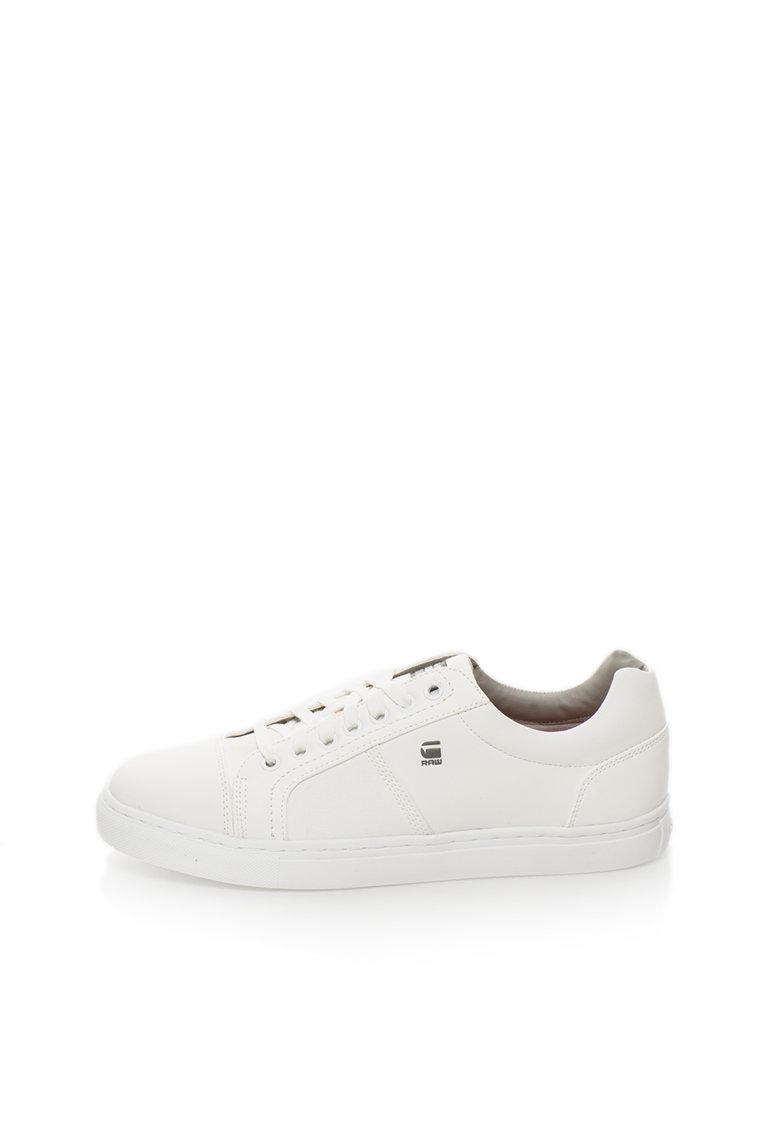G-Star Raw Pantofi sport alb prafuit de piele sintetica Toublo