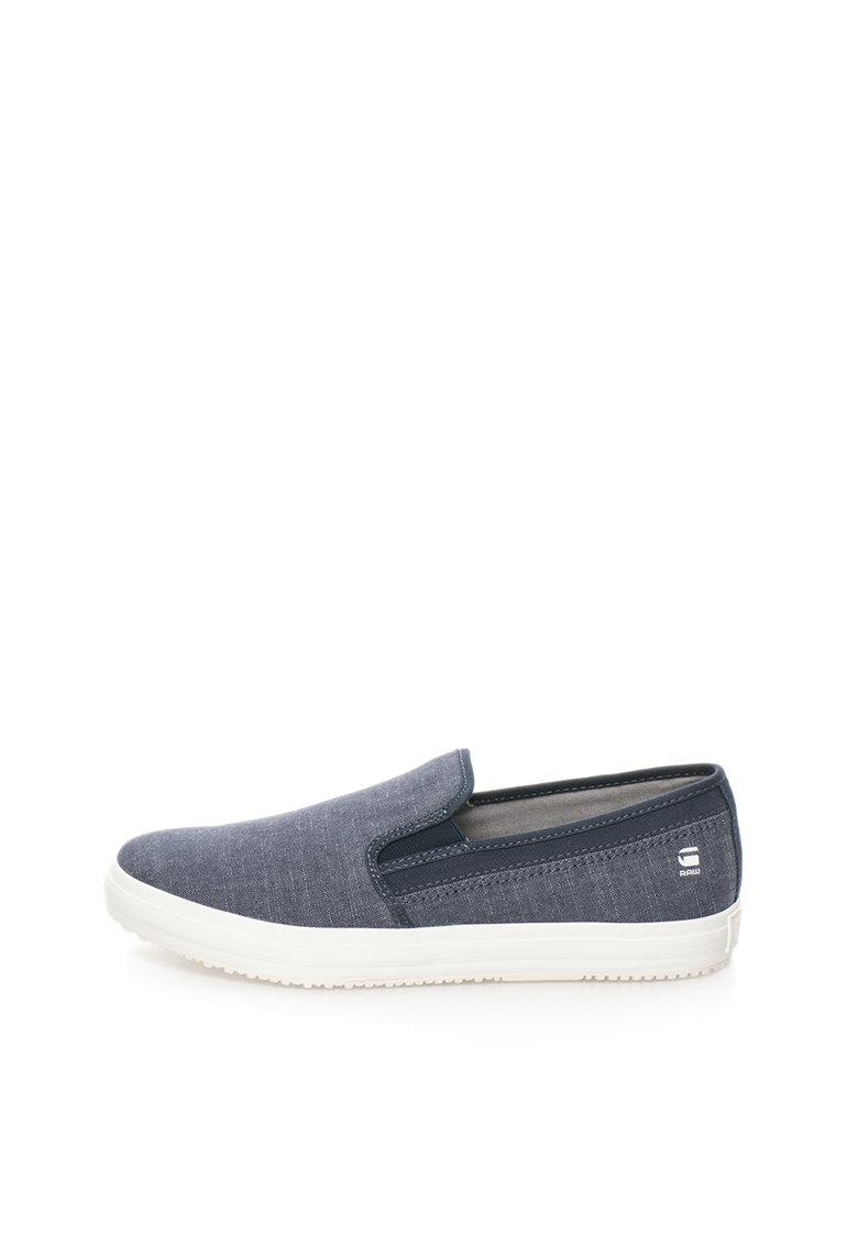 G-Star Raw Pantofi slip-on albastru inchis de chambray Kendo
