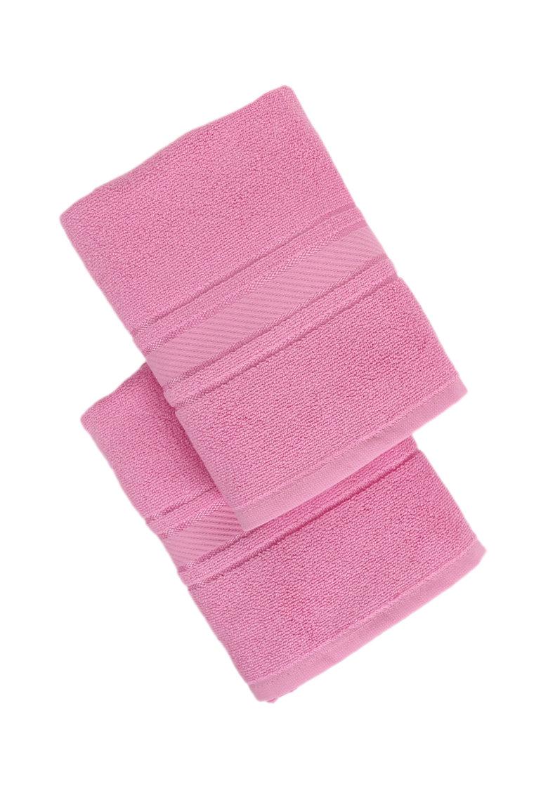 Set de prosoape roz pentru maini Orient - 2 piese
