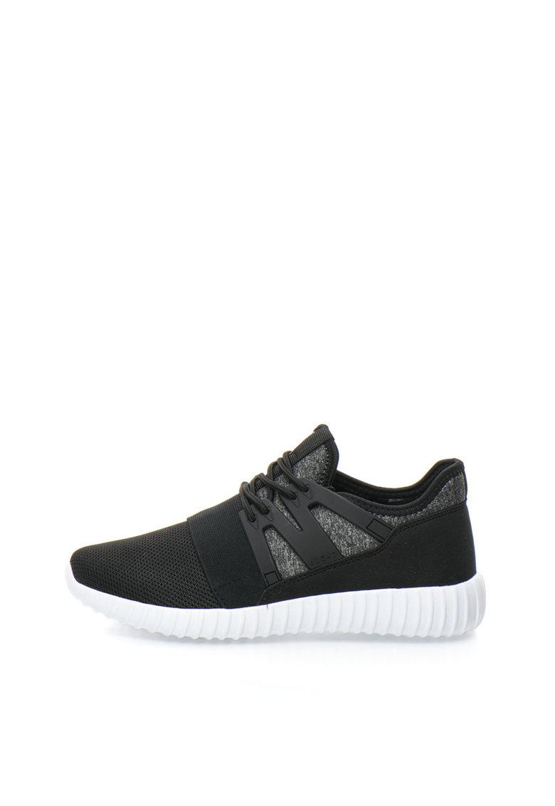 BLEND Pantofi sport slip-on negri