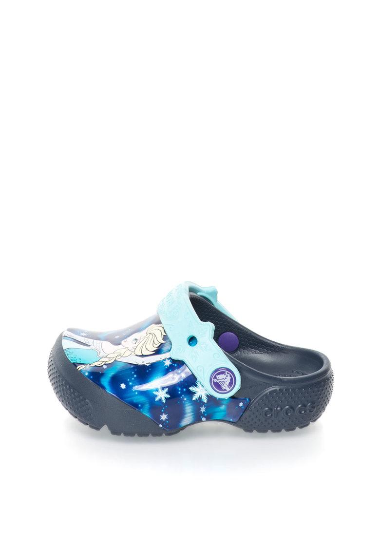 Crocs Saboti slingback multicolori cu tematica Frozen™