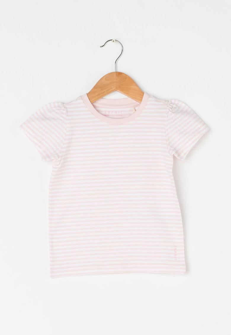 Esprit Tricou roz pal cu alb in dungi