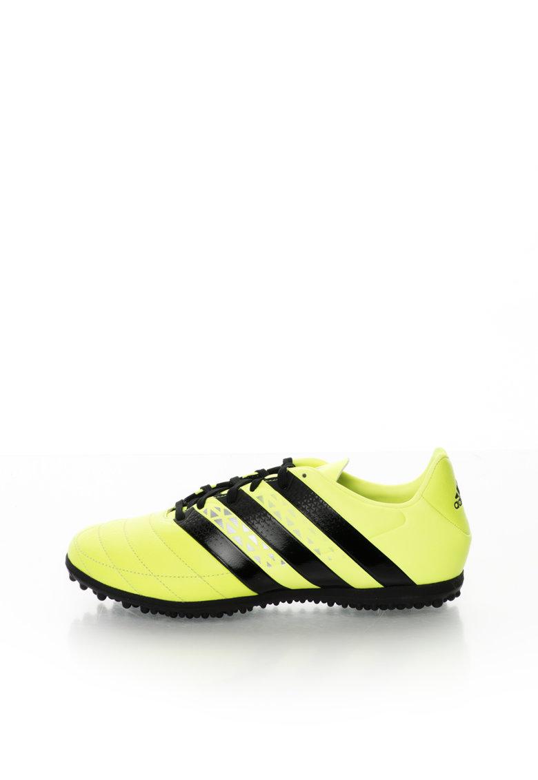 Pantofi sport pentru fotbal galben neon cu piele Ace 16.3 de la adidas