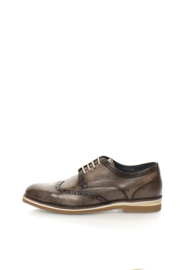 Zee Lane Pantofi brogue maro deschis de piele