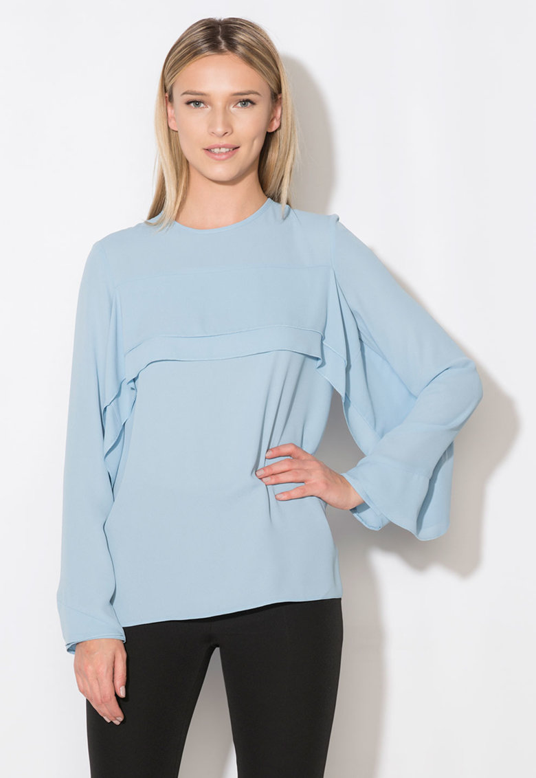 Zee Lane Collection Bluza bleu cu volane