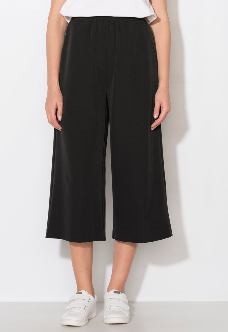 Pantaloni culotte negri Zee Lane Collection