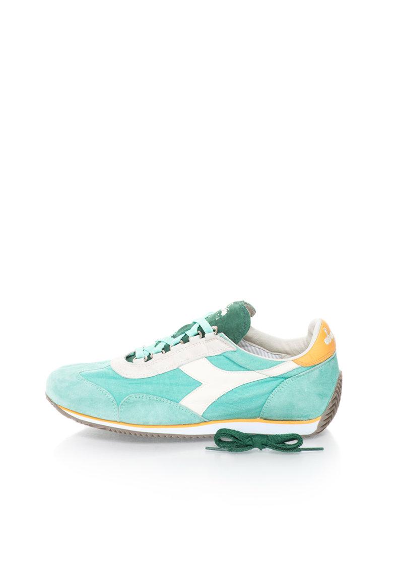 Diadora Heritage Pantofi sport verde menta cu alb Equipe