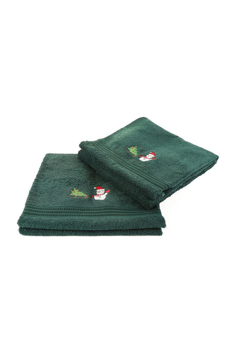 Leunelle Set de prosoape verzi cu broderie tematica – 2 piese