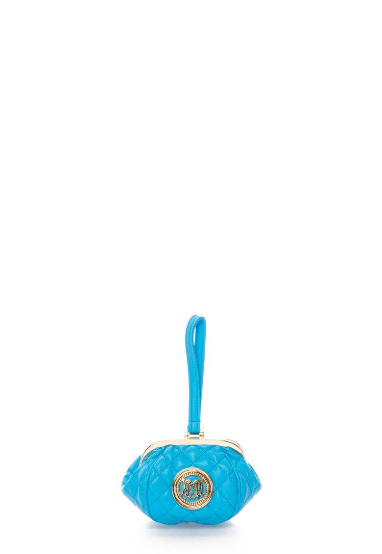 Love Moschino Etui albastru aprins cu bareta pentru incheietura