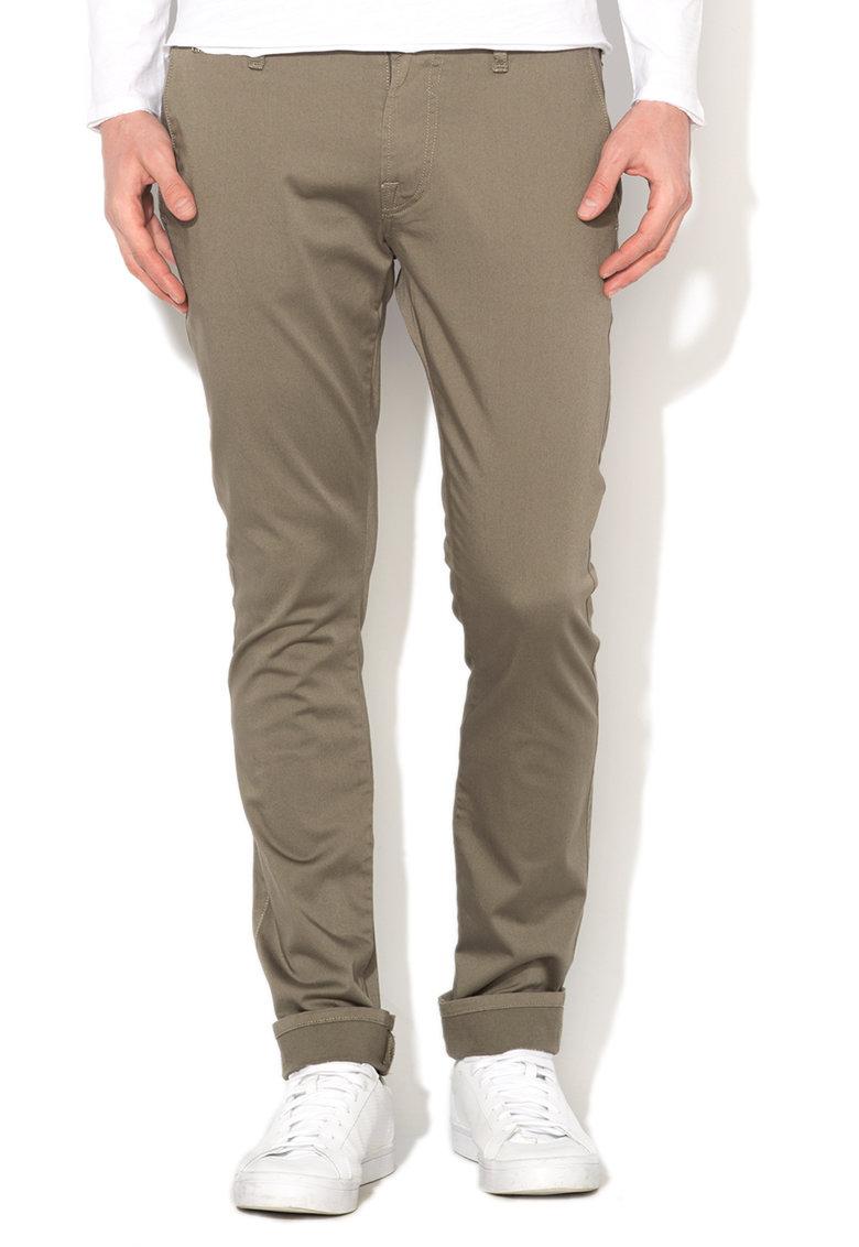 GUESS JEANS Pantaloni super skinny verde militar