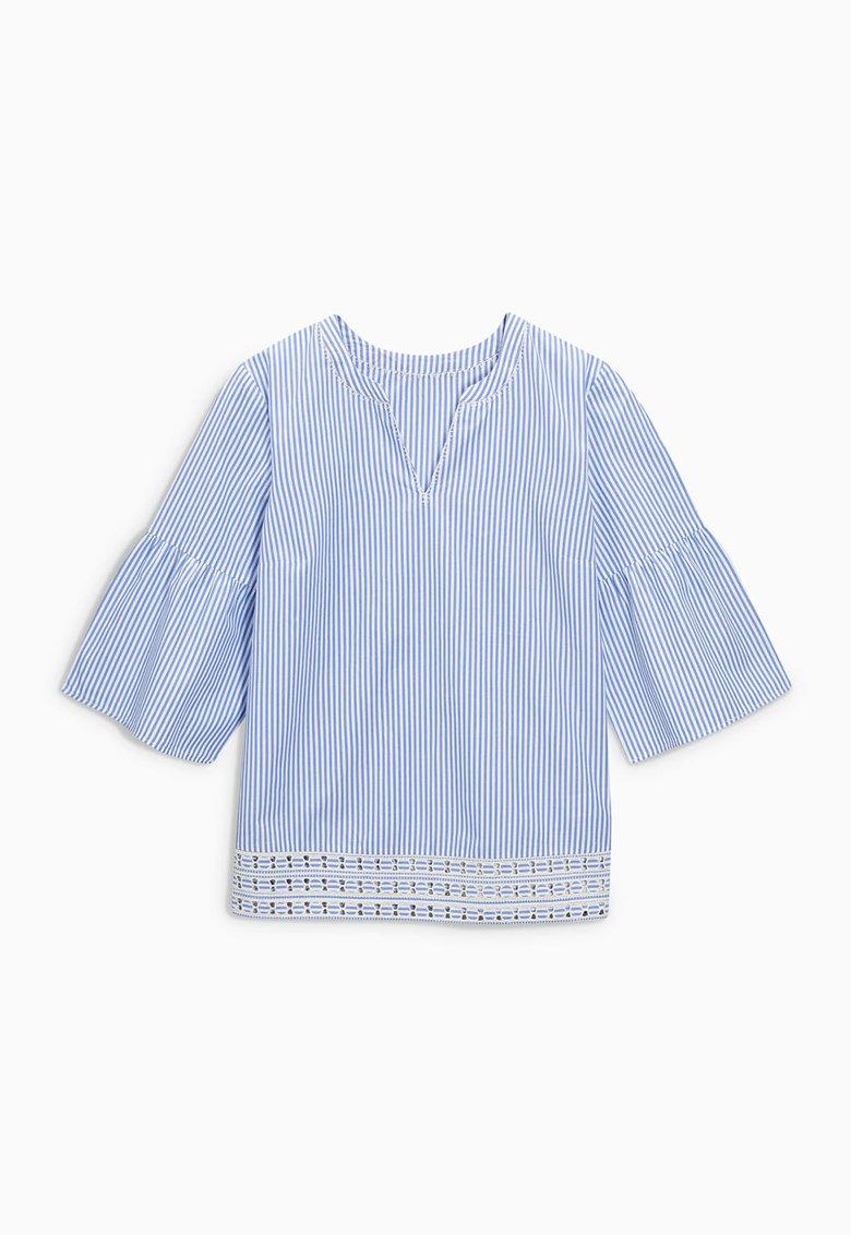 NEXT Bluza albastru cu alb in dungi si cu maneci clopot