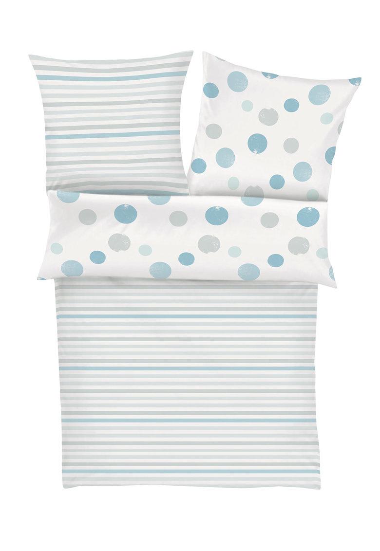 sOliver Set de pat alb cu dungi si buline 6463-500-018