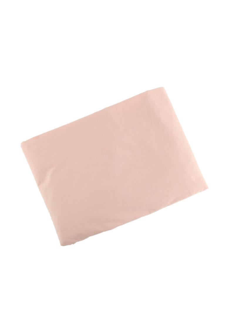 Cearsaf roz garoafa cu elastic de la Leunelle