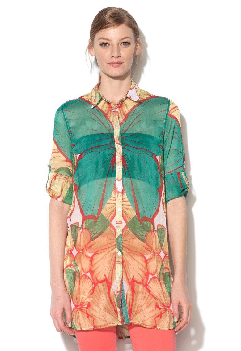 DESIGUAL Camasa multicolora transparenta Larucha
