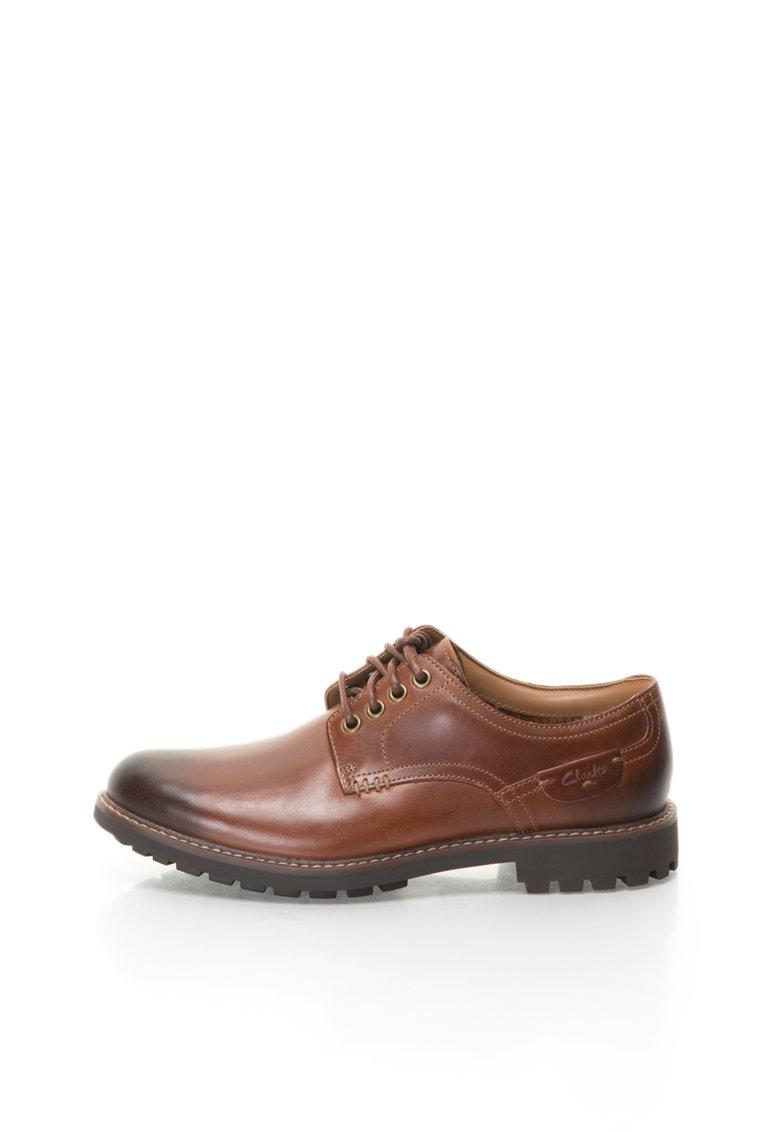Pantofi derby de piele Montacute Hall de la Clarks
