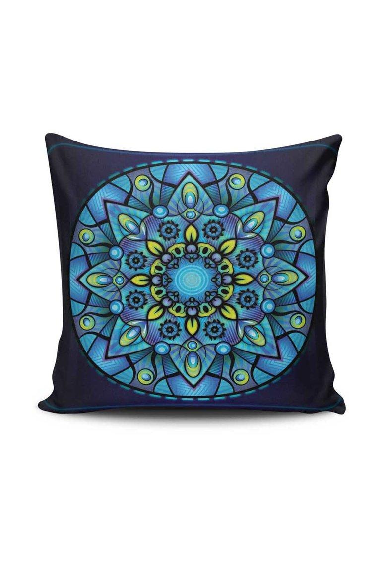 Leunelle Husa bleumarin cu albastru pentru perna decorativa Mandala