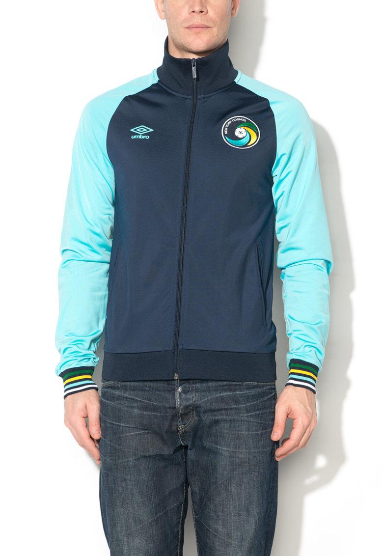 Bluza sport cu fermoar bleumarin cu albastru azur de la Umbro