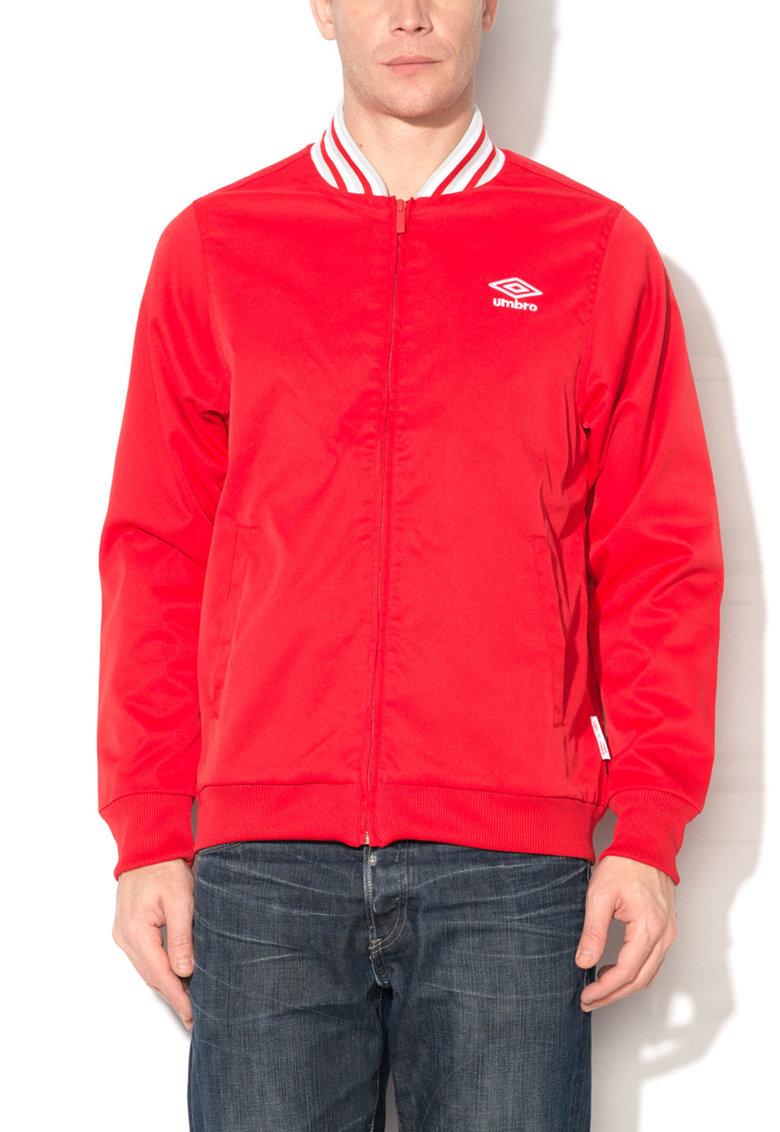 Jacheta bomber rosie cu fermoar de la Umbro