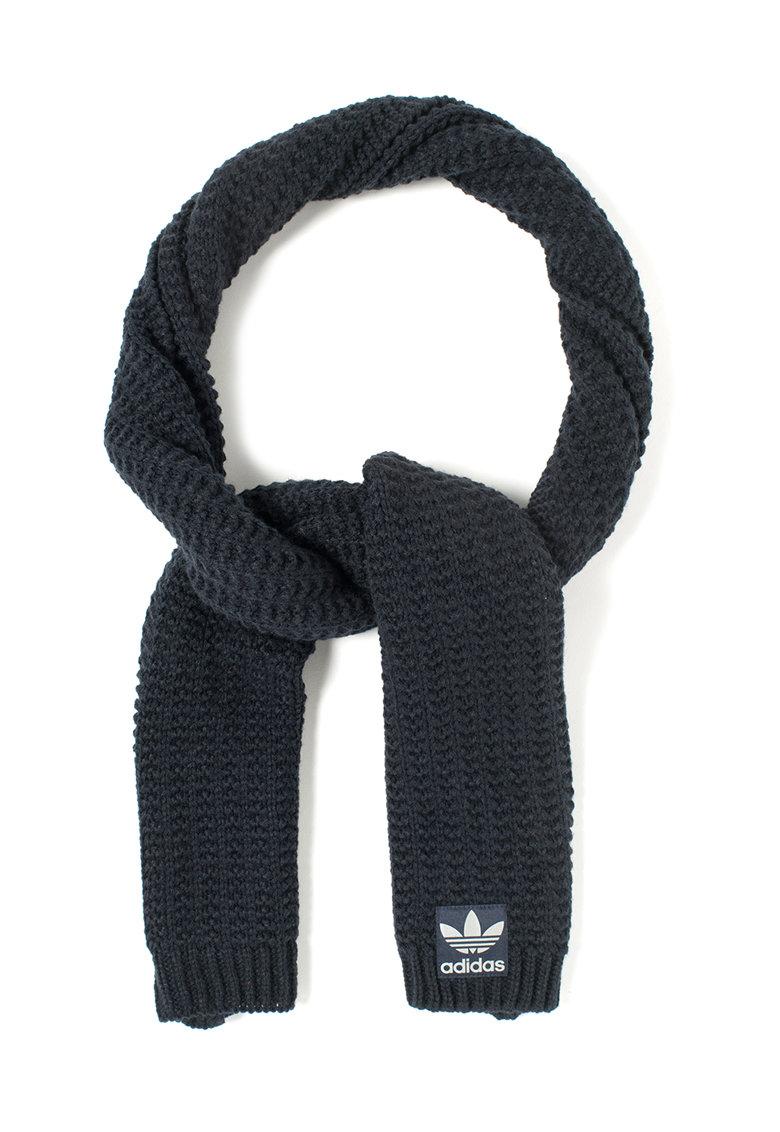 Set bleumarin de fular si manusi tricotate de la adidas Originals