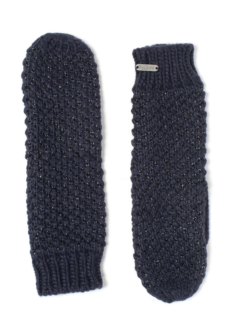 Manusi tricotate albastru indigo Fen de la Pepe Jeans London