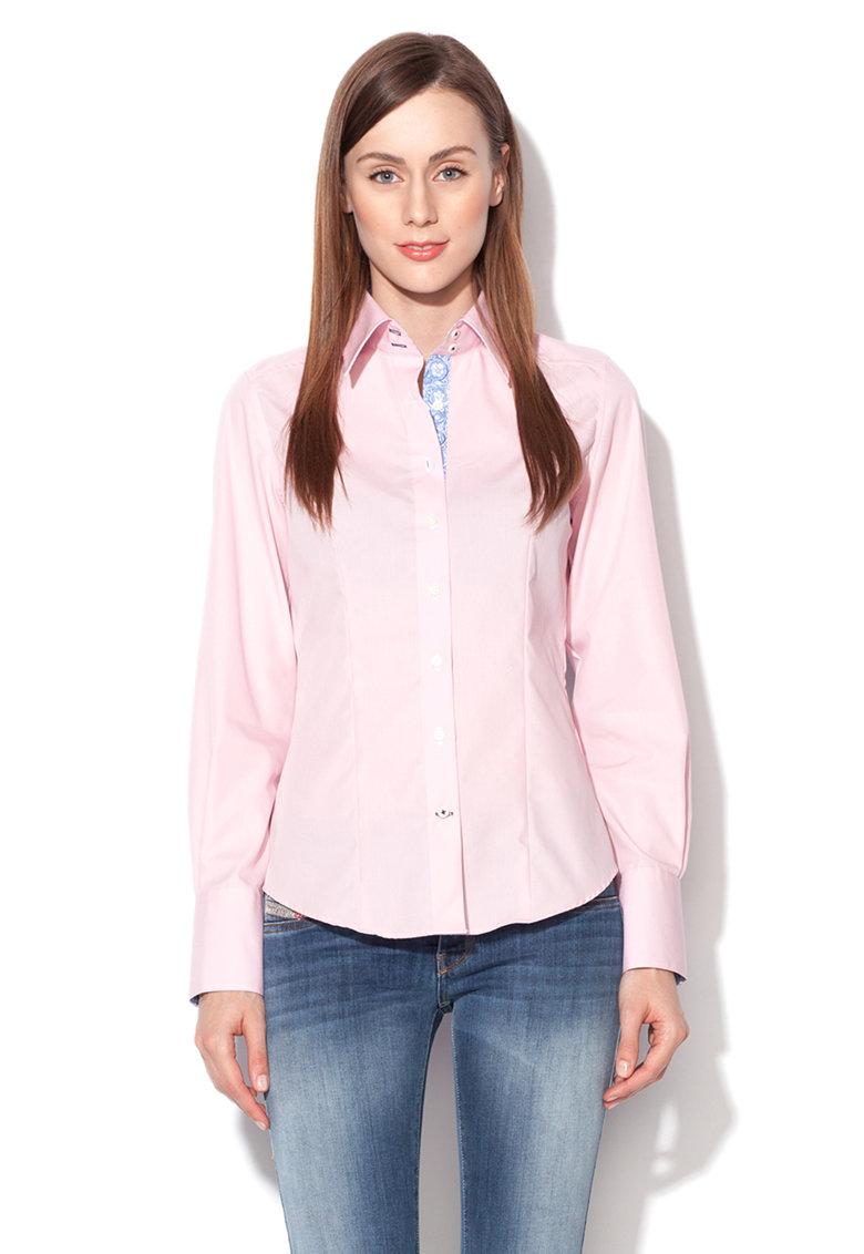 Camasa modern fit roz cu guler Kent