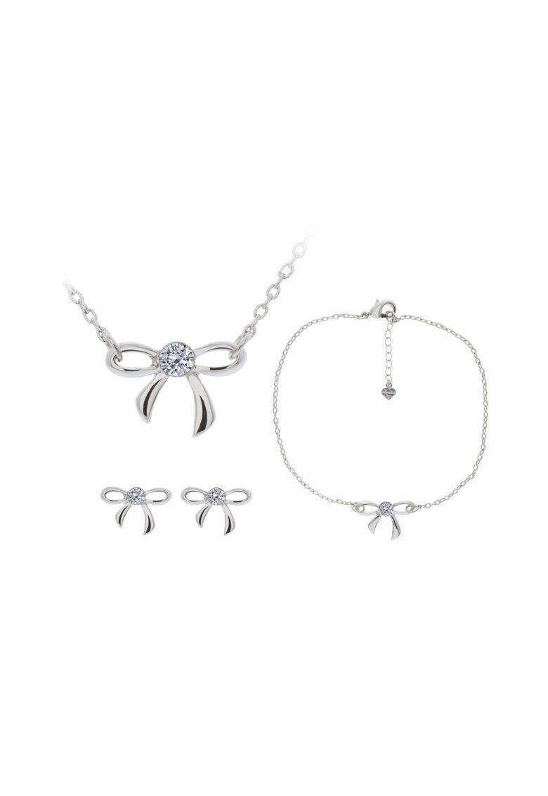 Set De Bijuterii Decorat Cu Cristale Swarovski Bow