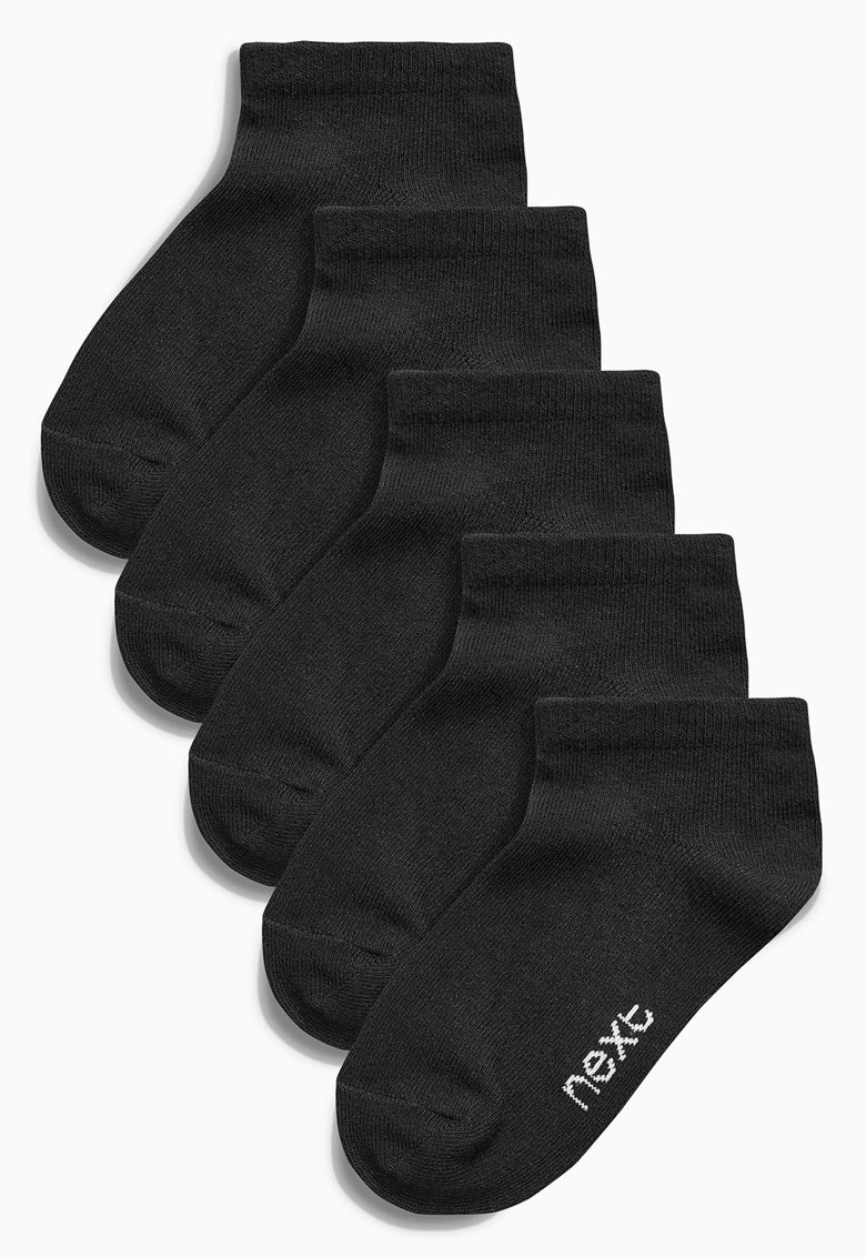 NEXT Set de sosete scurte negre – 5 perechi